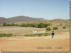 Mary rumbo a las ruinas de San Vicente Ferrer BC.