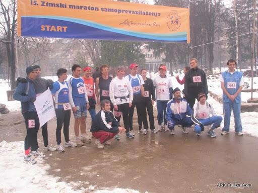 Maratonci na cilju