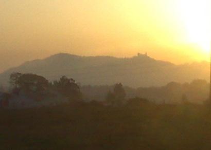 Pôr-do-Sol sobre a Serra de Sintra... é esta a última imagem que trago destas férias. Até Agosto!