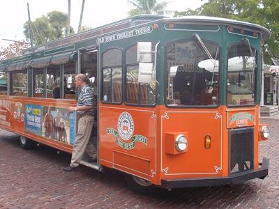 Os transportes em Key West parecem, tal como a ilha inteira, saídos de um parque de diversões