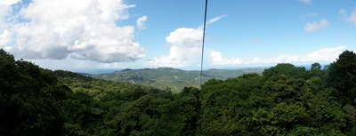 Do alto da montanha - Rain Forest Sky Ride em St. Lucia