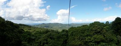 Do alto da montanha - Rain Forest Sky Ride em St. Lucia
