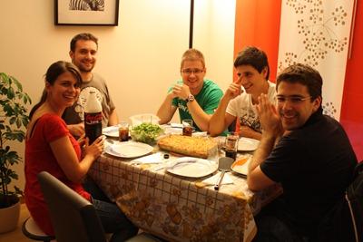 Jantar de despedida: bacalhau com natas, especialidade da Dona Paula, exclusivamente para a Irmandade (e membros honorários)