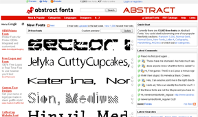 Abstract Fonts