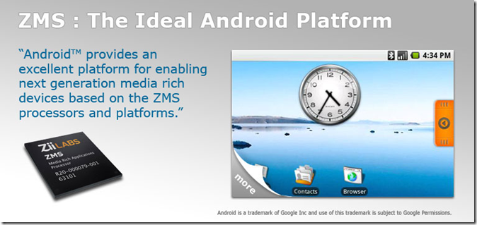 ZiiLABS™ to Demonstrate HD Video Playback for the Android™ Platform at Mobile World Congress