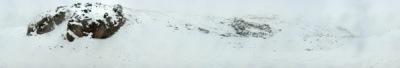 عکس پانوراما - توچال، نزدیک ایستگاه دوم، در حال برف باریدن