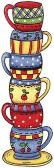 imagens decoupage clipart Tea Cups