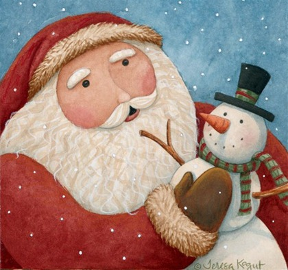 Christmas Snowman - Painted - _-763654