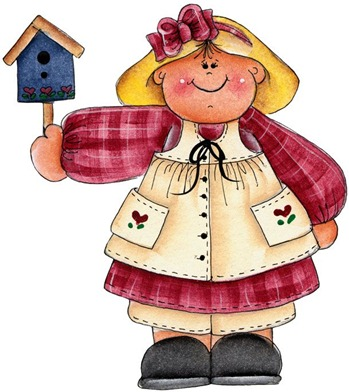 Girl with Bird House-714080