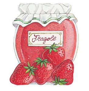 Imagen decoupage Geleia de morango Fragole-796185