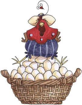 imagem de coupage clipart Chicken on Basket-733925