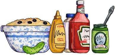 imagem decoupage clipart Picnic Food01