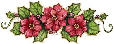 decoupage Christmas Flowers