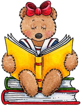 clipart decpoupage Teddy Bear Reading02