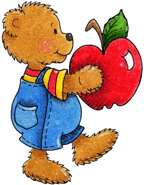 clipart decpoupage Teddy Bear Apple02