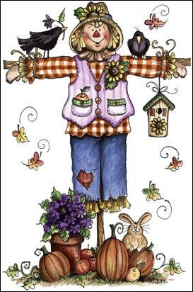 imagem de coupage clipart espantalho Autumn Scarecrow01