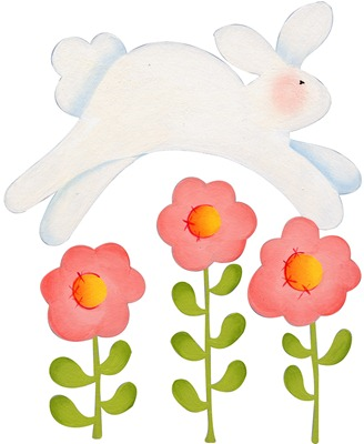 imagens decoupage clipart figura decoupage  Jumping Bunny