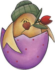 clipart imagem decoupage Spring Chick02