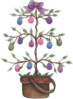 clipart imagem decoupage Easter Tree