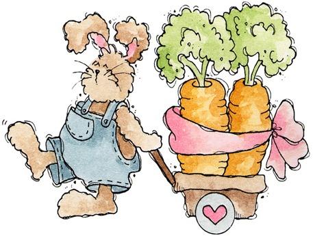 Bunny Pulling Carrots
