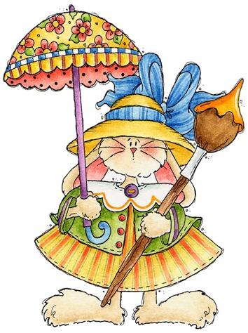 Bunny with Umbrella