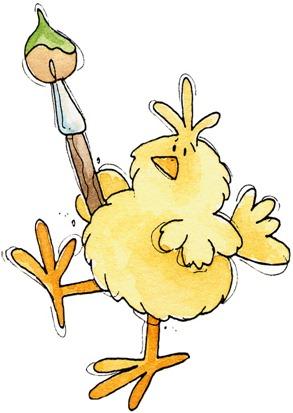 Chicks with Brush