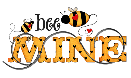 clipart imagem decoupage  bee mine