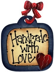 imagem decoupage clipart  Tag Handmade with Love