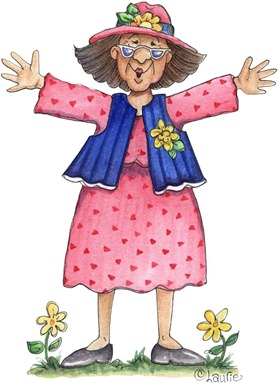 clipart imagens decoupage  Dancing_Grandma03