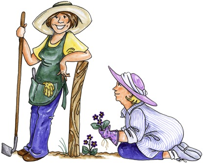 clipart imagens decoupage  Garden Buddies