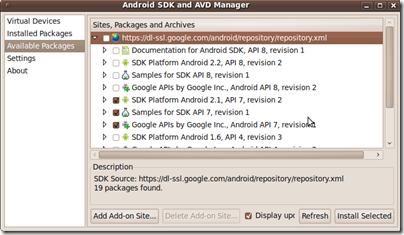 Android-select packages