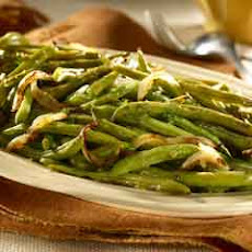 Roasted Green Beans With Lemon Vinaigrette Drizzle