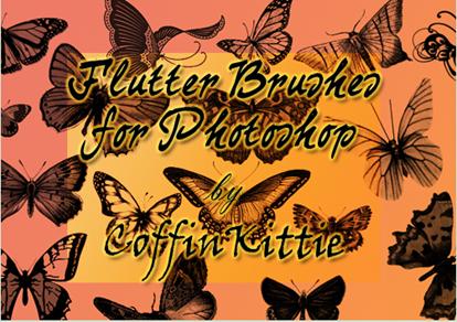 brushes o pinceles de mariposa monarca