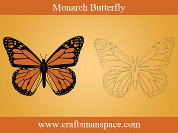 patrón de mariposa monarca