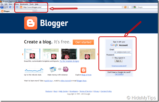 blogger blog login page1