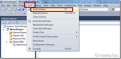 "7_Create ""Hello World"" C   Program in Windows Using Microsoft Visual Studio"