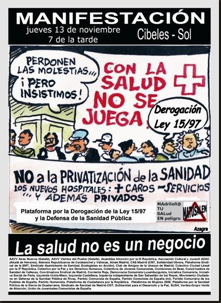 Sanidad Madrileña CARTEL MATUSALEN MANI 1311081