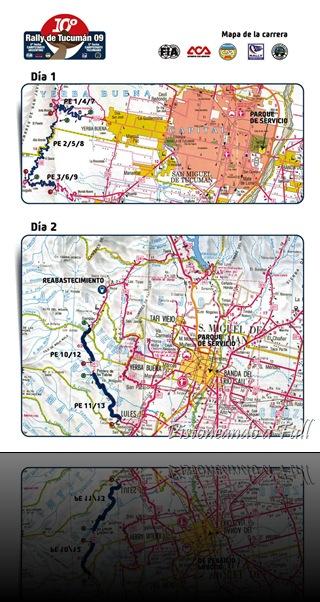 Mapa Rally de Tucumán, 5ª fecha Rally Nacional / pistoneandoafull.blogspot.com