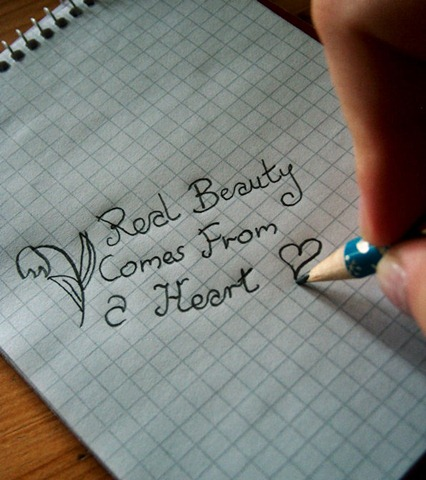 Real beauty comes from a heart