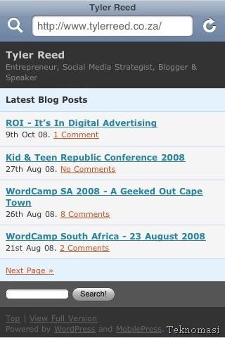 Ubah tetapan blog supaya mesra telefon bimbit