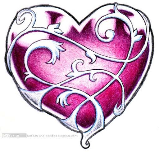 Pink heart and swirls tat. Well, just what the title said.