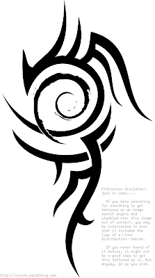 debian tribal tattoo