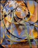 Giacomo_Balla-Mercury_Passing_Before_the_Sun-Tempera_on_Canvas_Board-1914