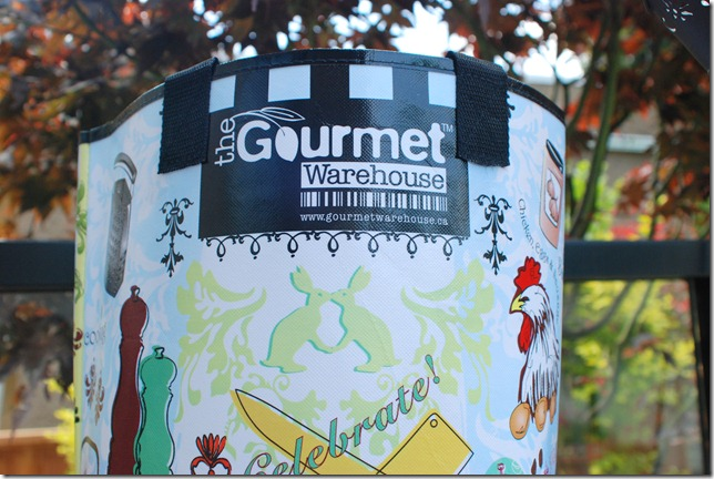 free reusable bag with purchase from Gourmet Warehouse