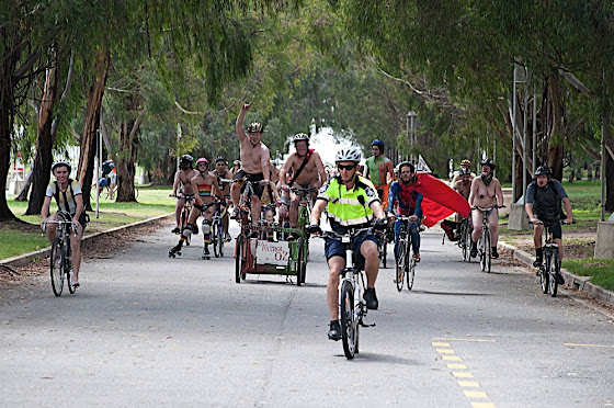 naked bike ride - image by silas