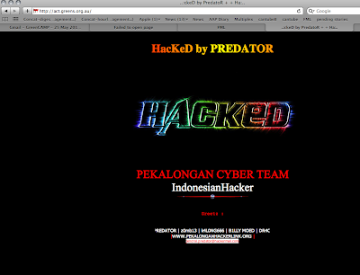 Hacked screenshot