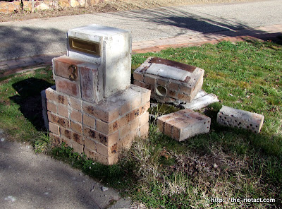 smashed letterbox
