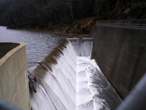Corin Dam spillway