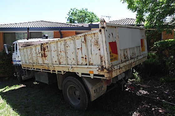 Truck v house