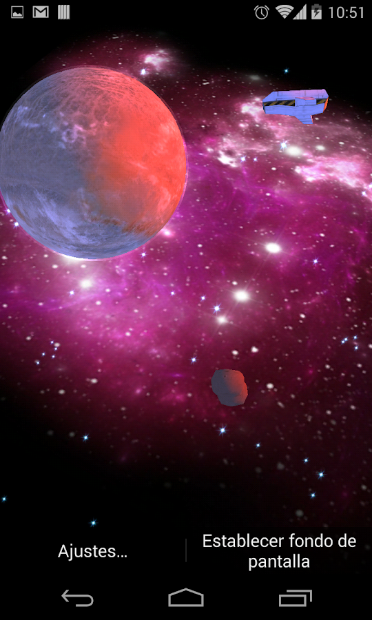3D Galaxy Live Wallpaper Full Screenshot 3